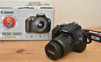 CANON 1200D DSLR CAMERA KIT WITH CANON LENS BATTERY CHARGER BAG MANUAL & 16GB SD