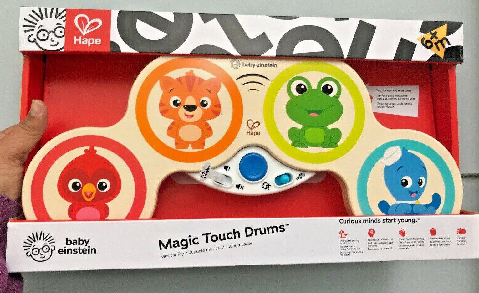 hape magic touch drums bnib wood toy