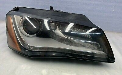 2011 - 2014 AUDI A8 A8L - RIGHT PASS SIDE XENON HEADLIGHT ASSEMBLY COMPLETE OEM