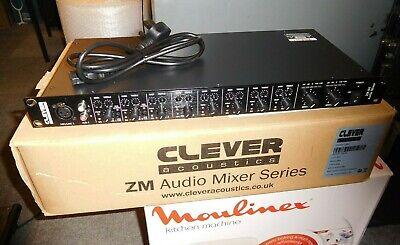 Clever Acoustics ZM 84 Rackmount Audio Mixer 8-Inputs 4-Outputs Mic/Line PA