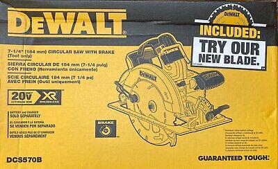 DEWALT 20V MAX 7-1/4 in. Cordless Circular Saw DCS570B New (Tool Only)