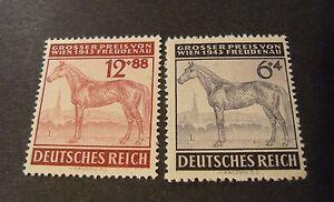 GERMANIA-GERMANY1943-D-REICH-034-Gran-Premio-Ippico-di-Vienna-034-2V-Cpl-SET-MNH