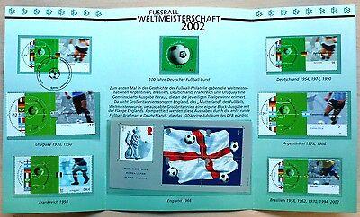 Folder Fussball 2002 Mi.2258-59 mit allen Gemeinschaftsausgaben ** Joint issue