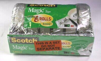 Scotch Magic Tape 6 Big Rolls In Dispensers 34 In W X 850 In L 5100 Total Wrap