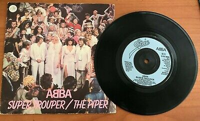 ABBA  Super Trouper / The Piper  45 with PicSleeve