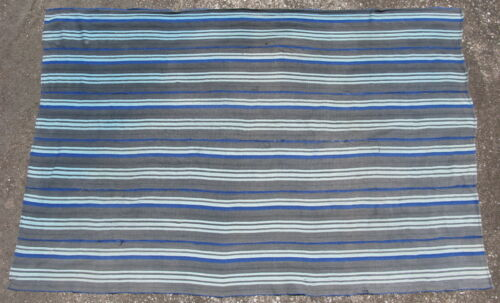 Vintage African indigo cloth Mossi People Burkina Faso cotton 39x59in #11714