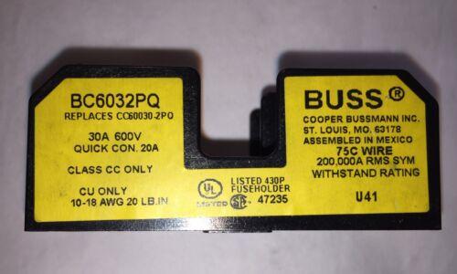 New Bussmann Standard Midget Fuse Block (# BC6032PQ)