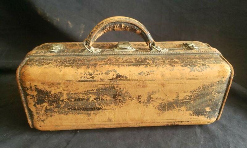 Antique Medical Bag Bottle Vial Kit Bag Vintage Leather Gothic
