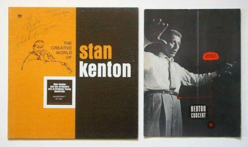 STAN KENTON Memorabilia Lot: SIGNED LP cover & INNOVATIONS IN MUSIC - II program