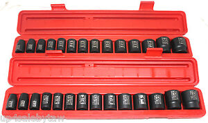 TEKTON 30pc 1/2in Drive Shallow Impact Socket Set SAE/METRIC Warranty -PRO GRADE
