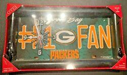 Green Bay - Packers #1 Fan License Plate Wall/Desk Clock