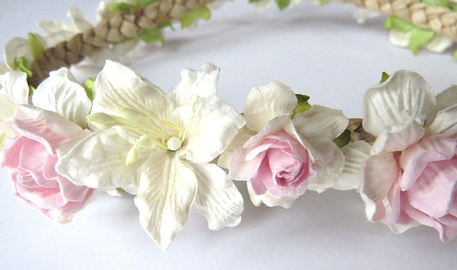 Blumenhaarkranz *HANDMADE* Vintage *NEU* Sommer Haarschmuck Hochzeit Kopfschmuck