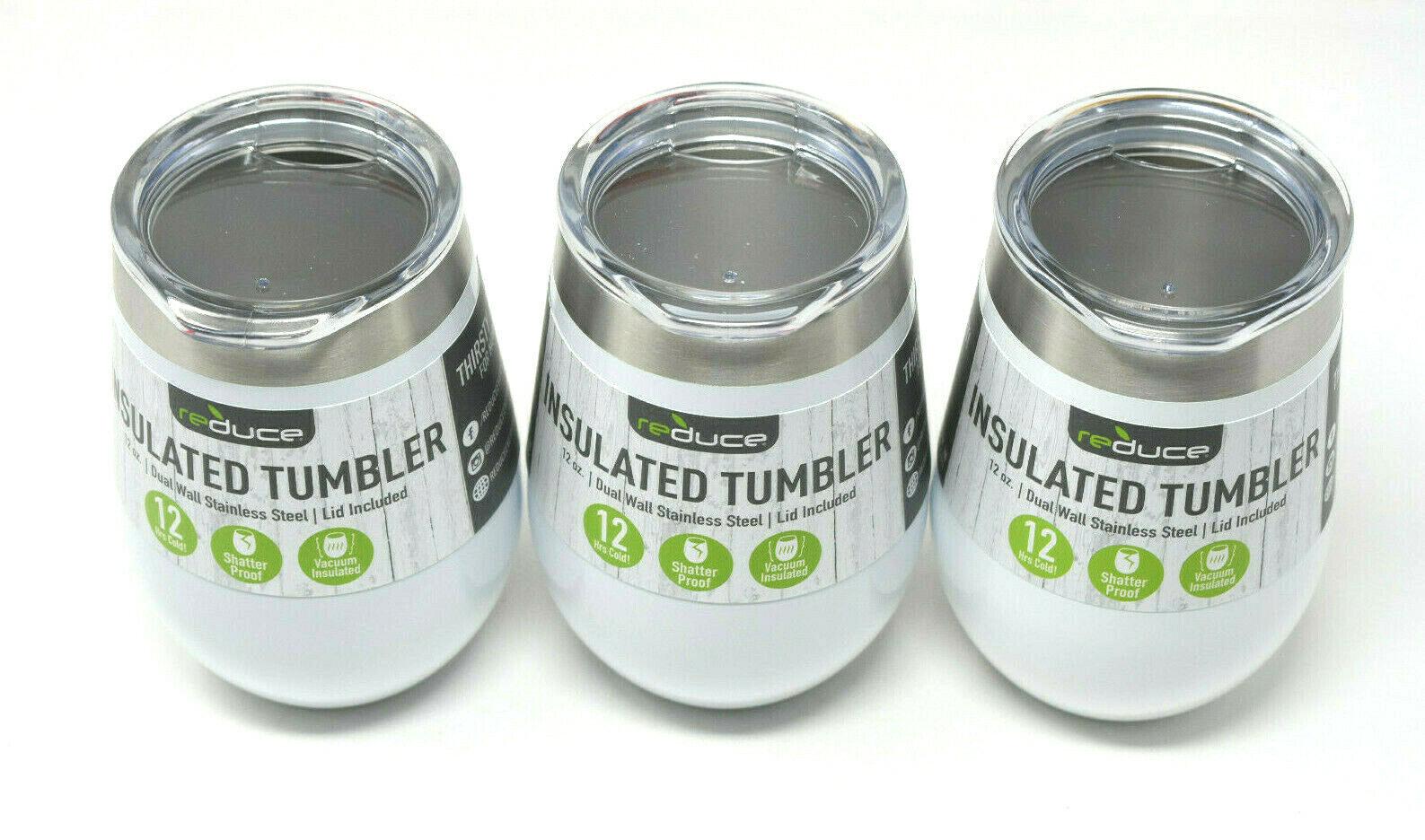 Reduce Everyday White Stainless Steel Insulated Tumbler Cup