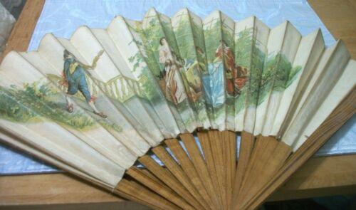 Antique large Wood & Silk Women