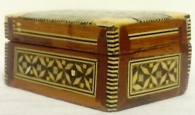Vintage Moorish Style, Little Hand Made Inlaid Box, Good Condition