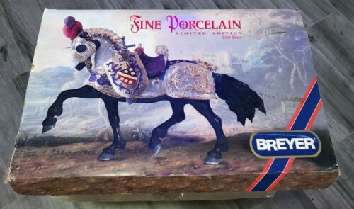 Breyer 79197 The Great Horse in Armor Fine Porcelain with Box 1997