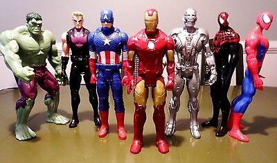 "Marvel Avengers 12"" Action Figures Hulk Capt. America Ironman Spiderman Ultron"