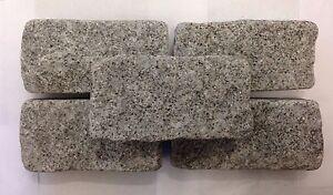 Silver Grey Granite Setts/Cobbles Tumbled- Natural Stone- 200mm x 100mm x 50mm