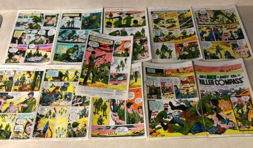 SGT ROCK #335 ART color guides 11 PAGE COMPLETE STORY war 1979 KILLER COMPASS