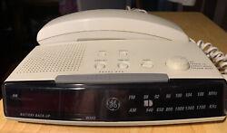 Vintage GE AM/FM Telephone Alarm Clock~Radio Combo WORKS GREAT!!