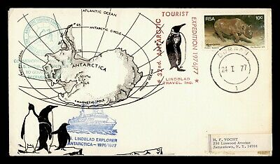 DR WHO 1977 SOUTH AFRICA RSA GOUGH ISLAND PAQUEBOT SHIP TO USA ANTARCTIC G17360