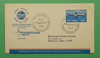 DR WHO 1970 ICELAND FIRST FLIGHT LOFTLEIDIR REYKJAVIK TO USA  C241475