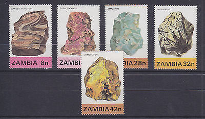 Zambia Sc 258-262 MNH. 1982 Minerals cplt VF