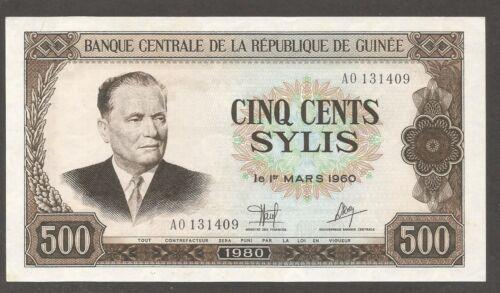Guinea 500 Sylis 1980; AU+; P-27; L-B317a; President of Yugoslavia