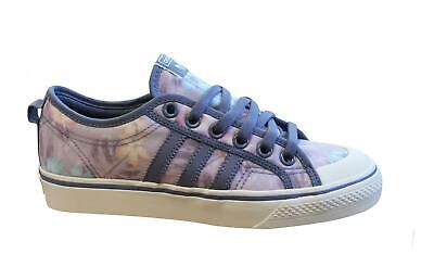 Adidas Originals Nizza Womens Trainers Textile Leather Low Lace Up Shoes CG6908