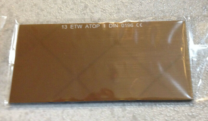 Filter Welding Glass Mirroring Gold Coloured 4 1/4x2.01x0 1/8in T.13 Screen