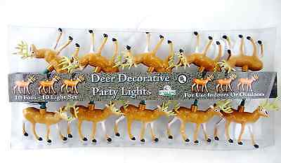 Rivers Edge 10 point Buck Whitetail Deer Party String Light Set FREE SHIPPING