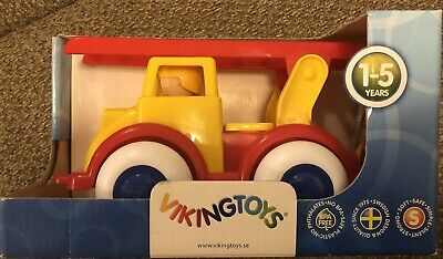 """8"""" Fire Truck Red & Yellow Play Toys Vehicle New by Viking Toys"""
