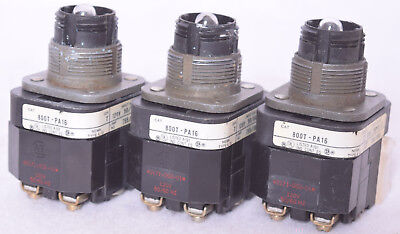 3 Count Allen Bradley Illuminated Push Button Switches 800T-PA16 Illuminated Push Button Switches