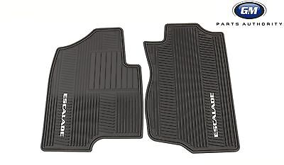 2007-2014 Cadillac Escalade Premium All Weather Front Floor Mats 17803323 Black