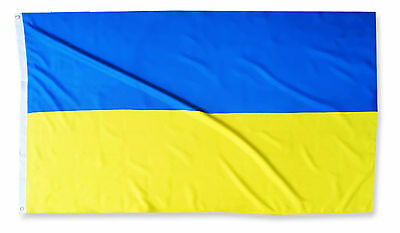 Fahne Ukraine Querformat 90 x 150 ukrainische Hiss Flagge Nationalflagge