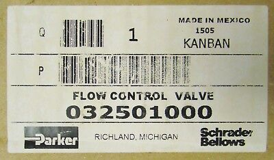 Parker 032501000 250 Psig Air 500 Psi Hydraulic Flow Control Valve 1505