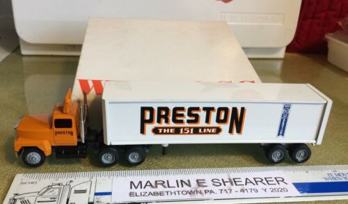 PRESTON TRUCKING (65 years ) 1992 TRACTOR TRAILER WINROSS TRUCK