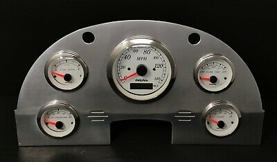 1956 Ford Car GPS Gauge Cluster White