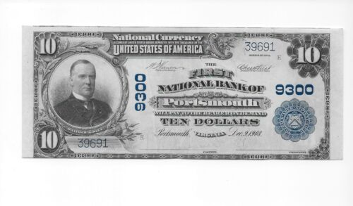 $10 1902 The First National Bank of Portsmouth, VA CH# 9300