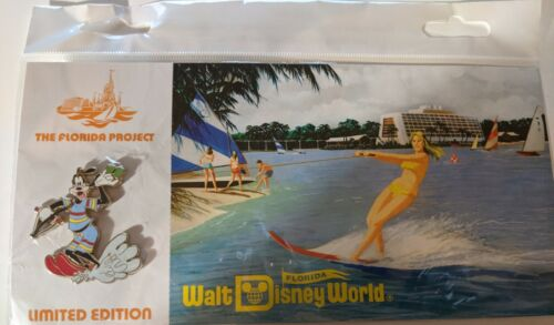 Disney Pin - WDW - Florida Project - Postcard and Pin - Goofy