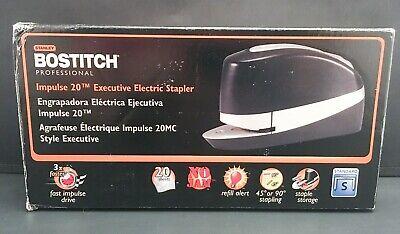Bostitch Impulse 20 Sheet Executive Electric Stapler 20suite-blk