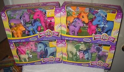 #9347 NRFB 4 Sets My Little Pony Clone Wonder Pony Land Horse Family Ponys