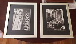 Framed photographs of Trevi Fountain and Pisa Deakin South Canberra Preview
