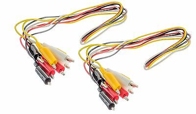 8pc 16 Gauge Test Leads Set Jumper Wire 36 With Alligator Clips