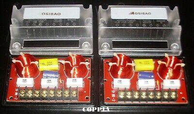 Coppia (2x) Filtro Crossover 2 Vie 12 dB/Oct  4/8 Ohm (-3dB -6dB -0dB Tweeter)
