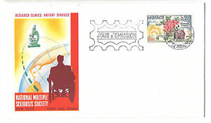 Monaco-FDC-Mutiple-Sclerosis-1962-First-Day-Cover-Sc-506-MS-Society-Research