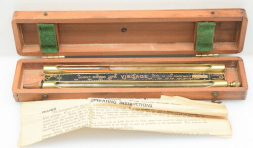 Vintage Louis Eitzen Visgage Viscosity Comparator in Wooden Case (INV J125)