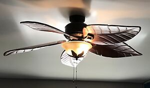 Big ceiling fan palm leaves style