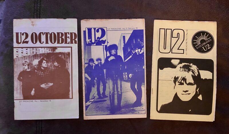 U2 Magazine - pre Propaganda Original Vintage Fanzine Set 1981-1985