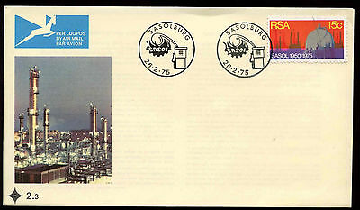 South Africa 1975 Sasol  Coal  Oil Gas Corp Fdc First Day Cover  C13662